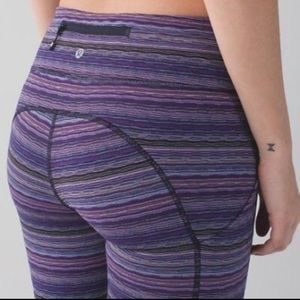 🍋 Lululemon Purple Stripe Pants